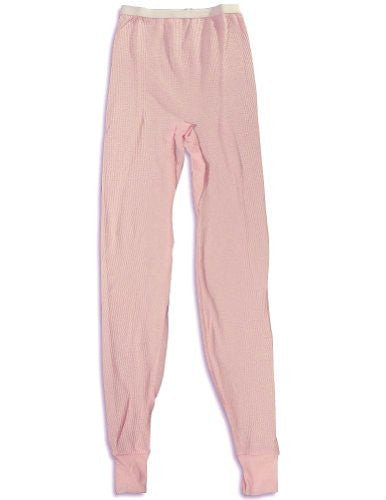 Indera - Womens Thermal Long John Pant 5000DR (Pink / Large)