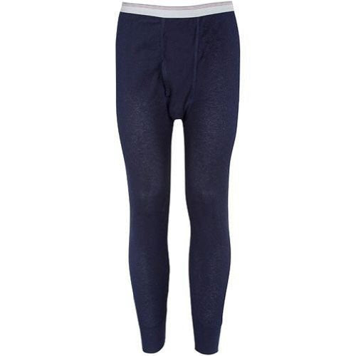 Indera Mills Colored Thermal Long John Bottoms (Blue / Large)