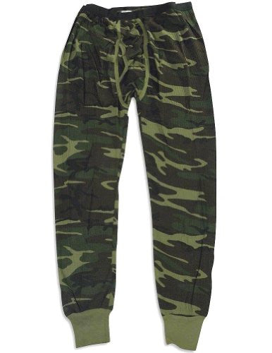 MENS BOTTOMS 5.0 OZ. 65/35 COTTON/POLY WOODLAND CAMO - 2XL