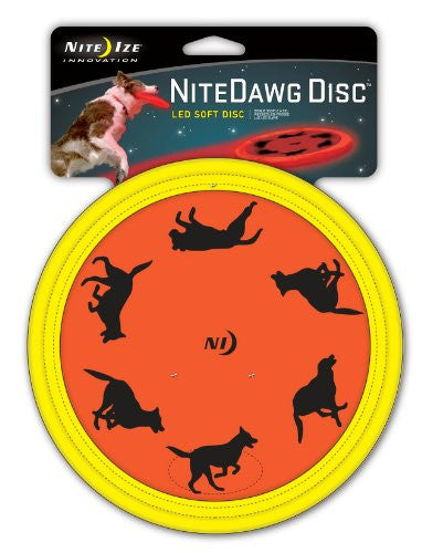 NITE IZE NITE DAWG SOFT DISC RED