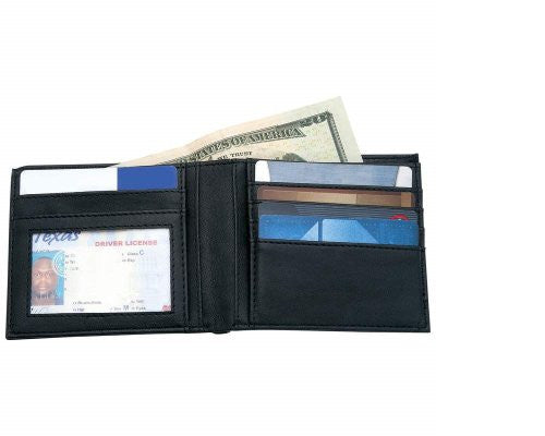 Embassy Mens Solid Genuine Leather Bi-Fold Wallet Space For Credit Cards License Gift Boxed