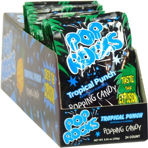 Pop Rocks Candy Tropical Fruit Punch Bulk 24 Count