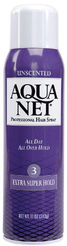 Aqua Net Extra Super Unscented 11 oz.