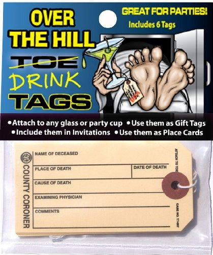 Over The Hill Toe/Drink Tags 6-pc
