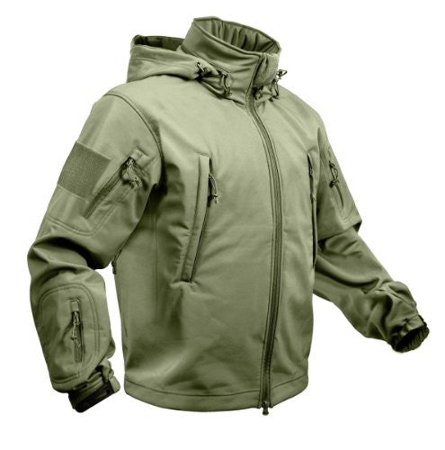 Olive Drab Special Ops Tactical Soft Shell Jacket - 2XL