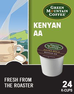 Green Mountain Coffee® Kenyan AA Extra Bold Coffee K-Cup® Packs, 24/Bx