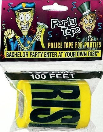 Bachelor Party Enter At Own Risk Tape