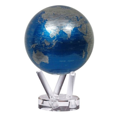 Cobalt Blue and Silver MOVA Globe