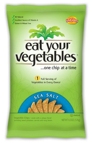 Chip Veggie Sea Salt 4.5 OZ (Pack of 6)
