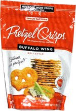 Pretzel Crisps, Buffalo Wing 7.2 OZ (Pack of 4)