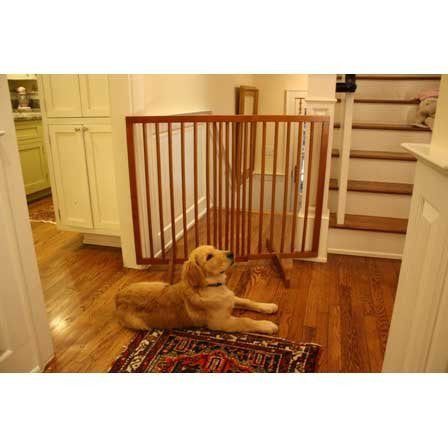 Extra Tall Freestanding Gate - Oak