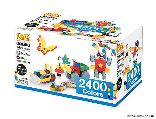 LaQ Basic 2400 Colors Model Building Kit