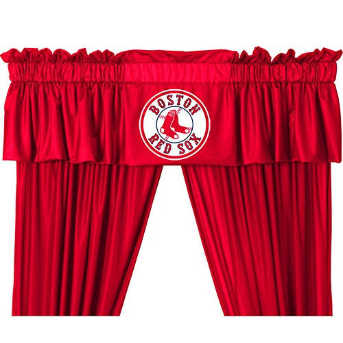 VALANCE  Boston Red Sox - Color Bright Red - Size 88x14