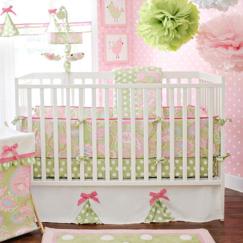 Pixie Baby in Pink 4pc Crib Bedding Set