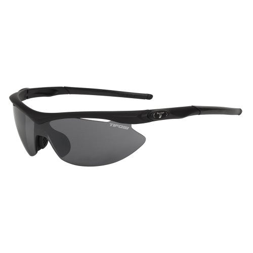 Tifosi Women's Slip Shield Sunglasses (Matte Black / Smoke Polarized/AC Red/Yellow)
