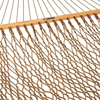 Presidential Size Original DuraCord Rope Hammock - Antique Brown