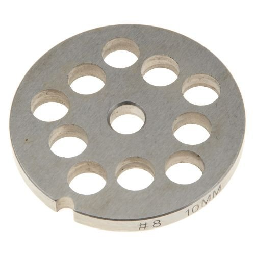 # 8 Stainless Steel Grinder Plate - 10mm (3/8 Inch)