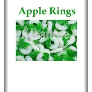 Green Apple Gummi Rings Candy