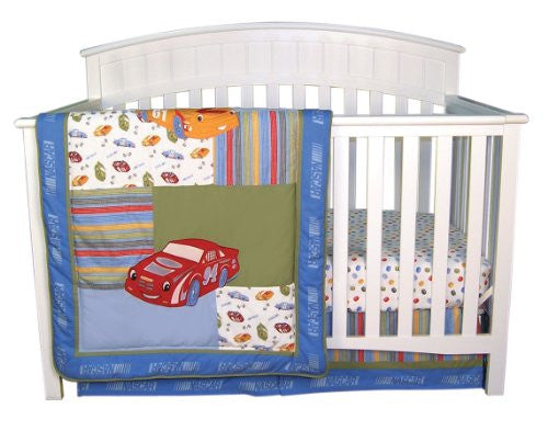 3 Piece Crib Bedding Set,  Nascar