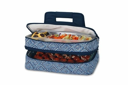 Entertainer Hot & Cold Food Carrier (Color: Blue Diamond)