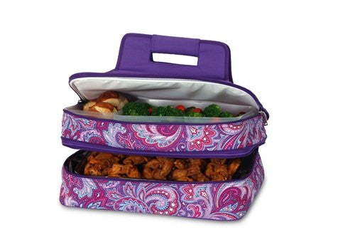 Entertainer Hot & Cold Food Carrier (Color: Purple Envy)