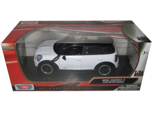 Motormax - Mini Cooper S Countryman w/ Sunroof (1/24 scale diecast model car, White)