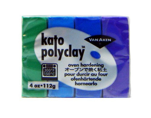 Kato Polyclay 4-Color Cool Set