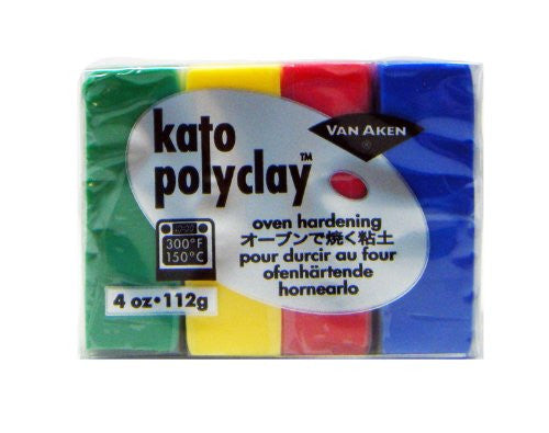 Kato Polyclay 4-Color Primary Set