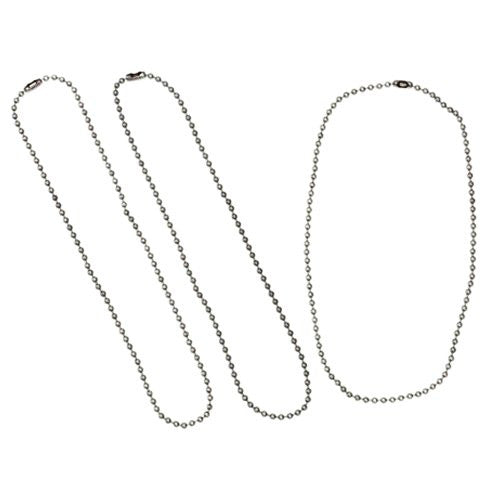 3mm Ball Chain Necklaces - Antique Silver - 18 inches