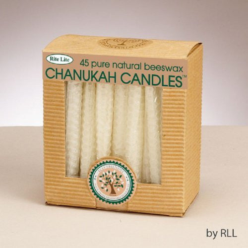 Chanukah Candles - Honeycomb Beeswax, Natural Color