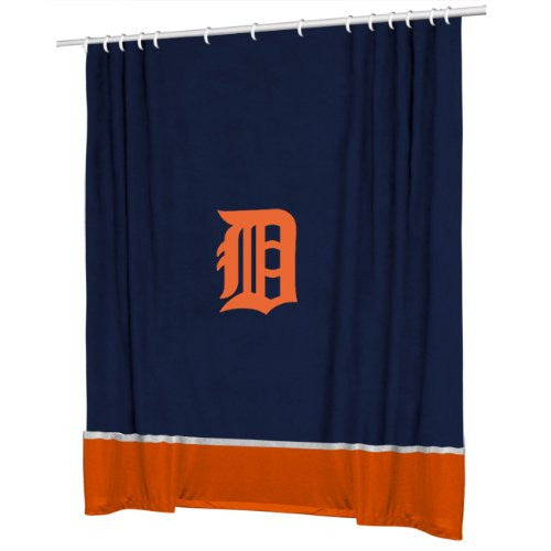 SIDELINES SHOWER CURTAIN Detroit Tigers - Color Midnight - Size 72x72