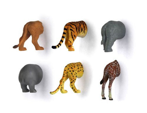 ANIMAL BUTT MAGNETS SET OF 6