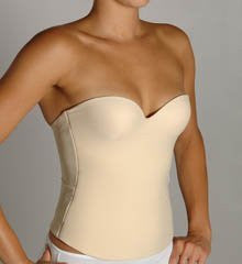 Second Skin Bustier with Seamless Cups 38DD Nude