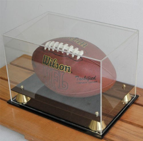 Football Display Case All Clear With UV Protection Acrylic