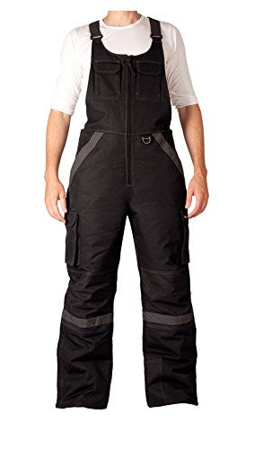 Mens Tundra Bib Overalls with added visibility-Medium