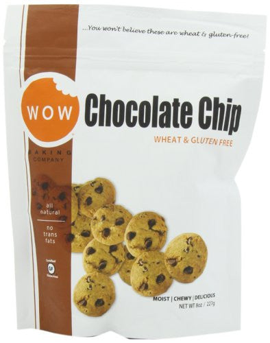 WOW BAKING COMPANY Cookies, Chocolate Chip, 8-Ounce (Pack of 6)