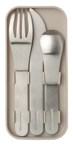 monbento nomad cutlery set - grey
