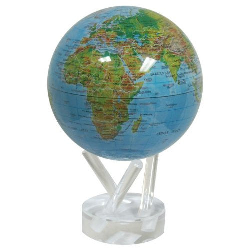 MOVA Globe - High Gloss Blue Ocean with Relief Map
