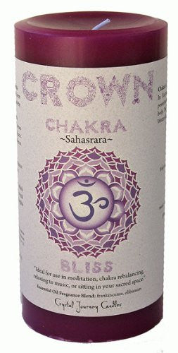 Chakra - Crown 3X6 Pillar, Sahasrara - Bliss