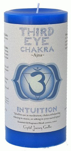 Chakra - Third Eye 3X6 Pillar, Ajna - Intuition