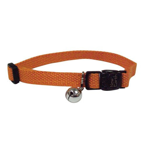 SOY Cat Collar - Adjustable - 3/8in x 8-12in - Pumpkin