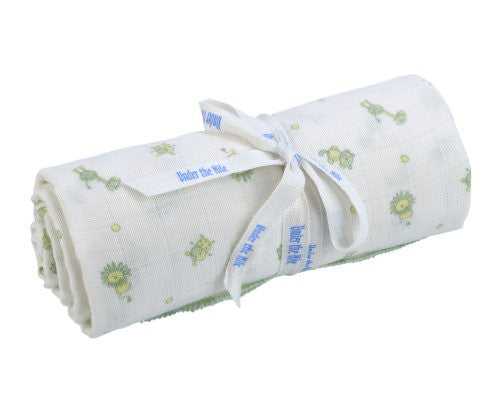UNDER THE NILE APPAREL Unisex-baby Newborn Muslin Swaddle Blanket