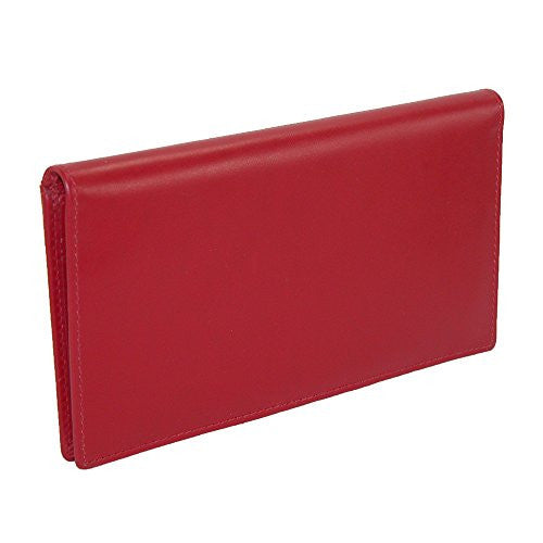 Checkbook with pen holder - Red