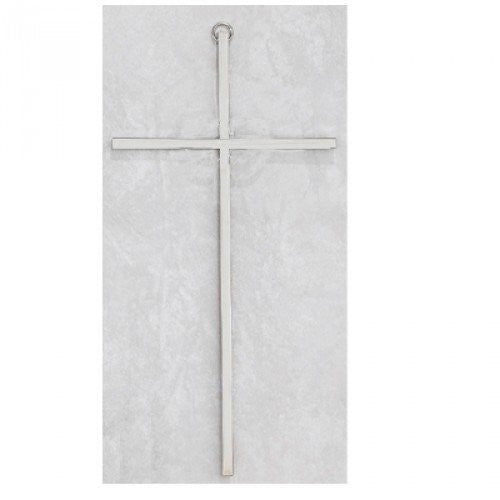 8 Plain Silver Cross""
