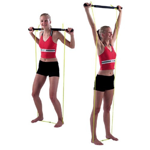 Exercise Bar With Tubing Padded, unweighted