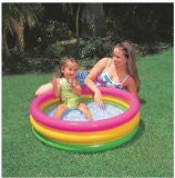 SUNSET GLOW BABY POOL, 3-Ring, Age 1-3