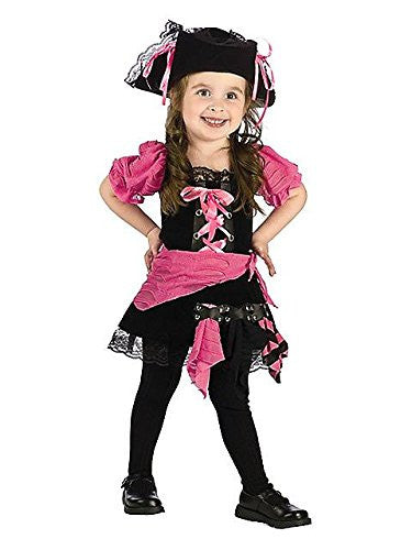 Pink Punk Pirate Tdlr Cstm Large (3T-4T)
