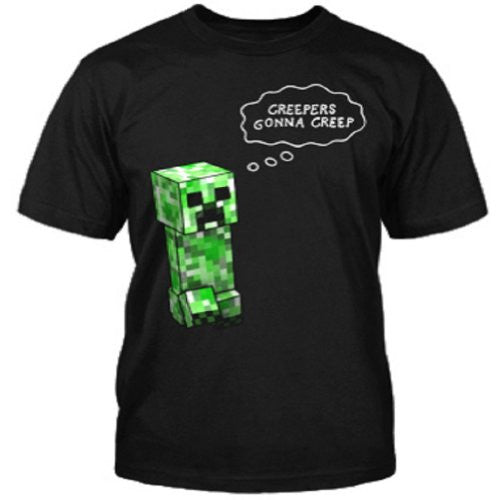 Minecraft Creepers Gonna Creep Youth Tee - Black, XSmall