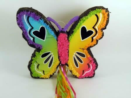 Neon Butterfly Pinata