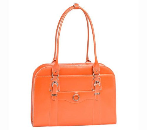 HILLSIDE Leather Ladies' Briefcase Orange